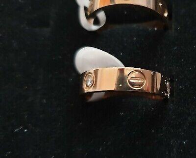 Love Ring Screw Design  Rose Gold  8 P