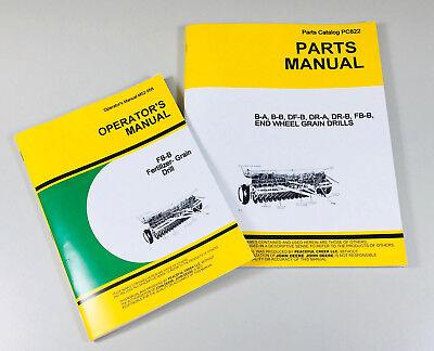 Operators Parts Manuals For John Deere Fb-b Fb117b Fertilizer Grain Drill Owner