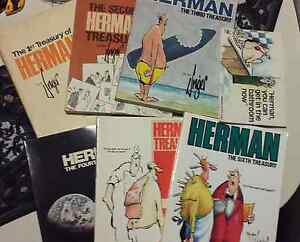 Jim Unger Herman Treasury Collection 6 books + 1