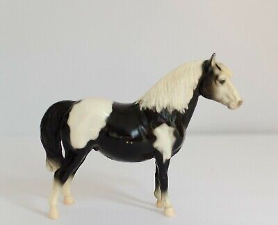 Vintage Breyer Molding Co. Black White Horse Shetland Pony Farmhouse Nursery