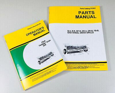 Operator Parts Manual For John Deere Fb177b Fertilizer Grain Drill Owner Catalog