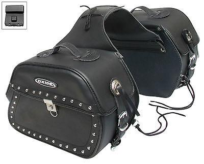 Oxide Kondo Tek Leather Saddle Bags 2 x 18L Motorcycle Panniers