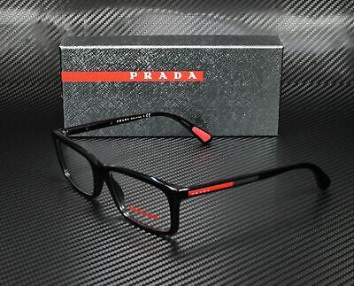PRADA LINEA ROSSA PS 02CV 1AB1O1 Black Demo Lens 55 mm Men's (Prada Specs)