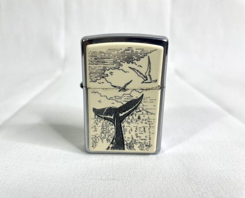 Scrimshaw Zippo Lighter - Whale