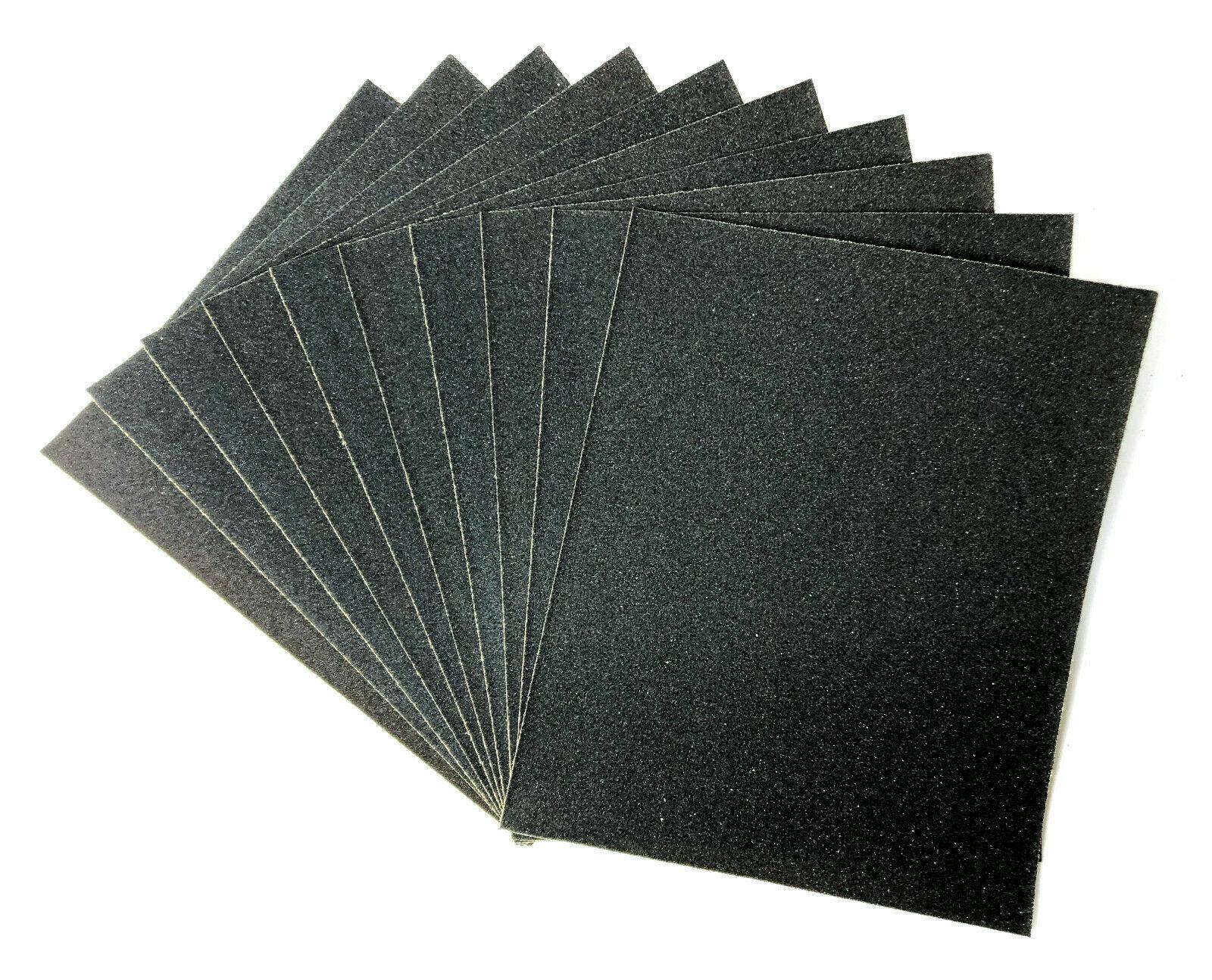 10 Blatt Schleifpapier Bogen 230 x 280 mm nassfest für Holz und Metall