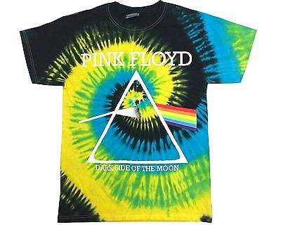 PINK FLOYD T-SHIRT DARK SIDE OF THE MOON CLASSIC TIE DYE BEST Adult SIzes