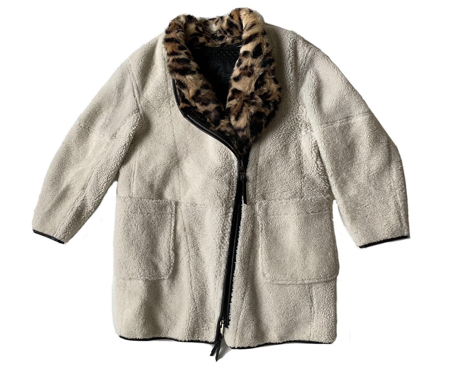 Rare manteau burberry prorsum mouton shearling fourrure léopard 42 ita (38/40)
