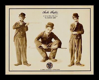 A DOGS LIFE * 1918 LOBBY CARD MOVIE POSTER CHARLIE CHAPLIN * CineMasterpieces