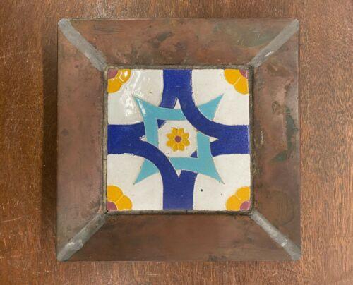 California Faience Vintage Geometric Tile ? California