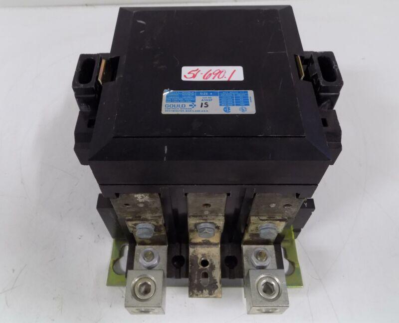 GOULD SIZE 4 CONTACTOR A103F 600V 135A 480V COIL