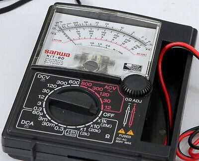 Mint Sanwa Kit-8d Analog Multimeter Tested Ok Taut Band Drop Shock Proof
