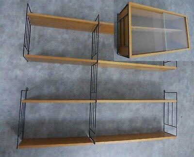 50er-60er Jahre Metall RegalSystem Wandregal Regal Wall System String Stil
