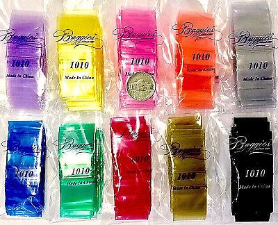 3mil 1010 1x1 1000 Baggies 10 Colors Mix Mini Ziplock Bag 3mil44thickrthan2m