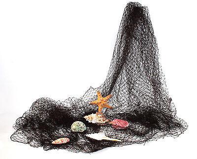 Deko Fischernetz 4 qm ca. 2x2 Meter braun mit 5-6 echten Muscheln und Seestern