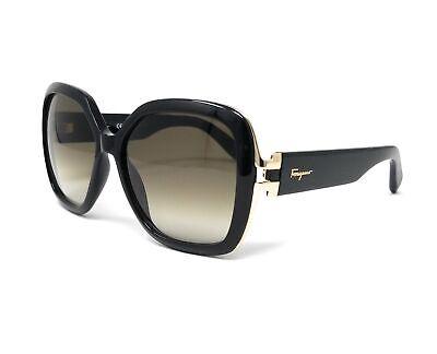 Salvatore Ferragamo Sunglasses SF781S 001 Black Rectangular Female (Ferragamo Sunglass)