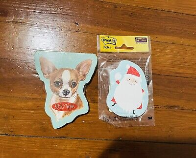 Lot Of 2 Sticky Notes Chihuahua And Santa