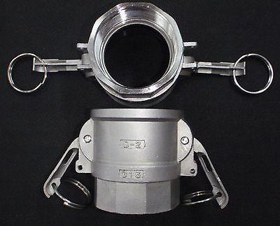 Stainless Steel Cam Lock Adapter 2 Female - 2 Npt Female Nipple Cl24-200