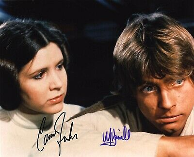 Carrie Fisher And Mark Hamill (Star Wars), Dual Hand Signed 10 X 8 Photo.