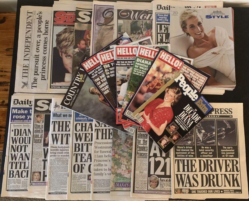 Princess Diana Di Newspapers & Magazines Death Of A Princess 1997 HUGE Lot