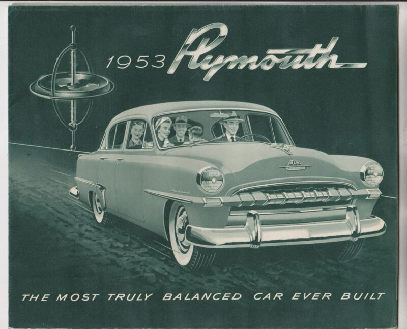 1953 SALES BROCHURE - PLYMOUTH