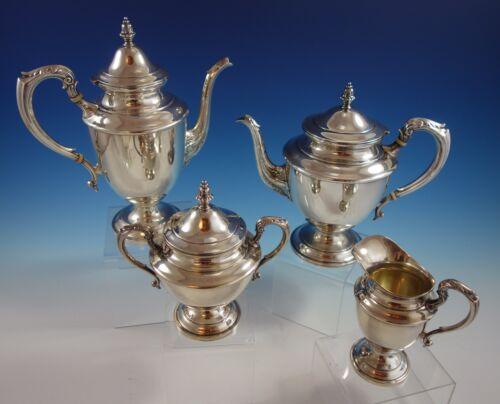 John Wanamaker Sterling Silver Tea Set 4pc #555 1920