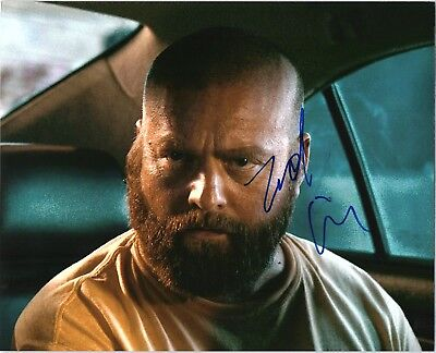 Zach Galifianakis Signed Autographed The Hangover 8X10 D