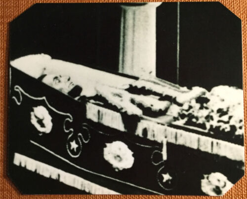 President A. Lincoln in casket tintype C1067RP