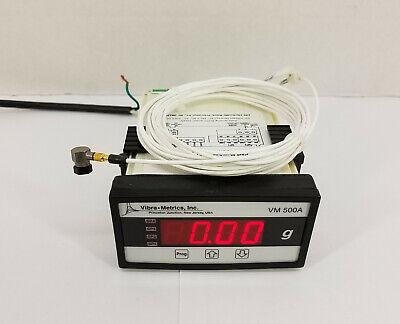 Pcb 352c65 Platinum Stock Sensor Mini Icp Accelerometer W Vibra Metrics Vm500a