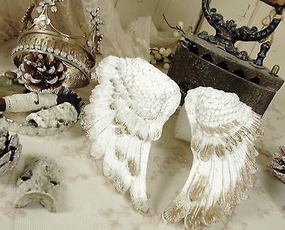 Flügel Engel Weiß Patina Weihnachten Shabby Vintage Brocante Nostalgie Deko