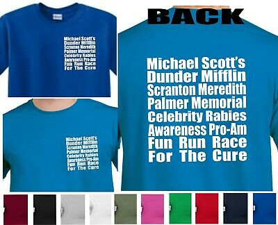 Rabies Awareness, Fun Run, The Office 5K Funny Humor Mens T-shirt Michael Scott  - Fun Office