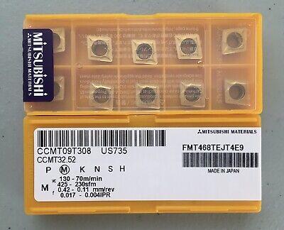 Mitsubishi Ccmt32.52 Ccmt09t308 Us735 Carbide Inserts 10 Pcs Free Shipping