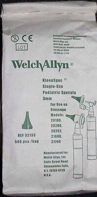 Welchallyn Kleenspec Ref 52133 Pediatric Specula 3mm 500pcs Bag