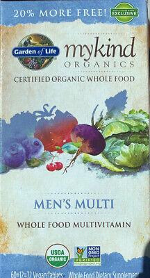Garden of Life MyKind Organics Men's Multi 72 Vegan Tablets