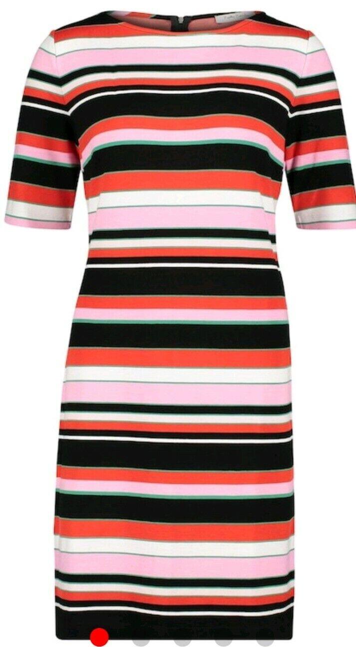 Betty Barclay Damen Kleid Kurzarm gestreift Sommer Jersey Sweat Etui elegant neu