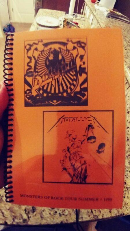 Metallica Monsters of Rock 1988 Tour Scheduler