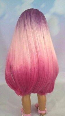 10-11 Custom Doll Wig fit Blythe-American Girl-1/4 Size Doll PLUM CRAZY bn1