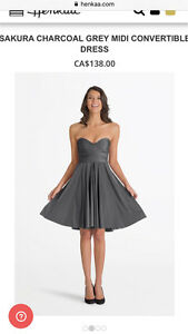 Charcoal grey Henkaa convertible dress Kitchener / Waterloo Kitchener Area image 1