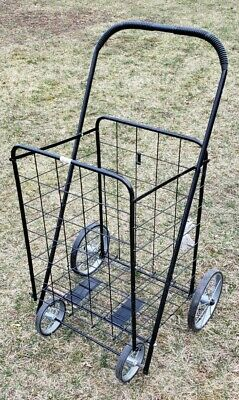 Flea Market Collapsible Rolling Pull Shopping Cart Basket Grocery Craft Show