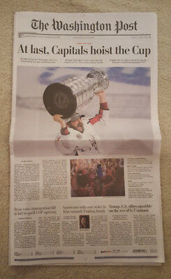 Washington Capitals Stanley Cup Champions Washington Post Newspaper  Sold Out