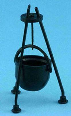 Изображение товара Dollhouse Miniature Hanging Black Cauldron Kit