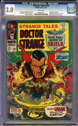 Strange Tales #156 CGC 3.0 GD/VG Universal CGC #1026581017