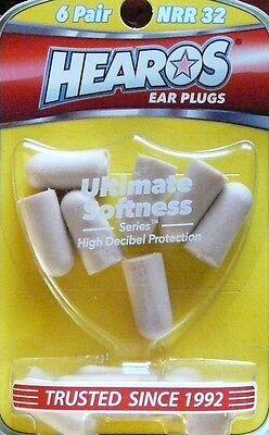 Hearos Ear Plugs 6 Pairs Ultimate Softness Series