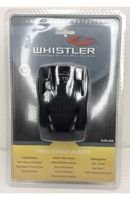 Whistler B1 XTR-335 XTR335 Cordless Laser Radar Detector w/ Real VoiceNEW