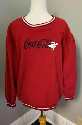 Coca Cola Sweatshirt with Ice Skating Bear Size XL 15