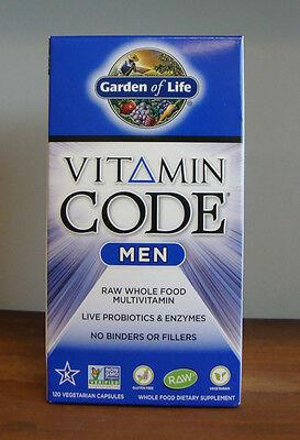 Garden of Life Vitamin Code MEN 120 Capsules Raw Wholefood Multivitamin For Men