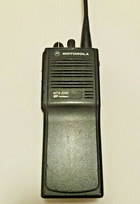 Motorola Mts 2000 800 Mhz Radio With Battery And Antenna H01ucd6pw1bn