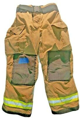 36x30 Globe Gxtreme Brown Firefighter Turnout Pants With Yellow Tape P1211