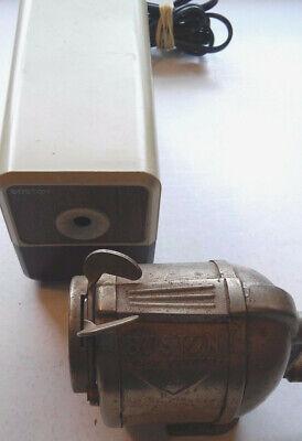 2 Vintage Boston Electric Pencil Sharpener Model 18 Boston Self Feeder 4