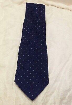 Valerio Garati Black And Blue 100% Silk Neck Tie. Very Good Condition.