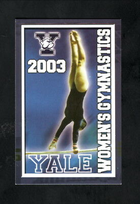 Yale Bulldogs  2003 Gymnastics Pocket Schedule  New Haven Register